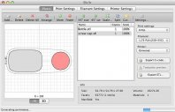 screen z oprogramowania dla drukarni