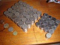 monety na stole